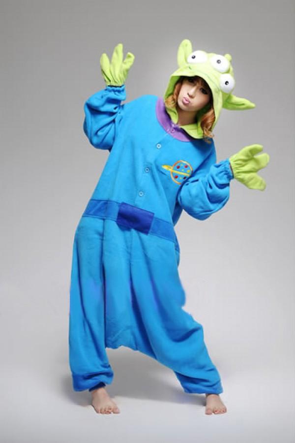 0695fc88a123 Little Green Men Funny Onesie - Animal Onesies Pajamas for Adult   Kids