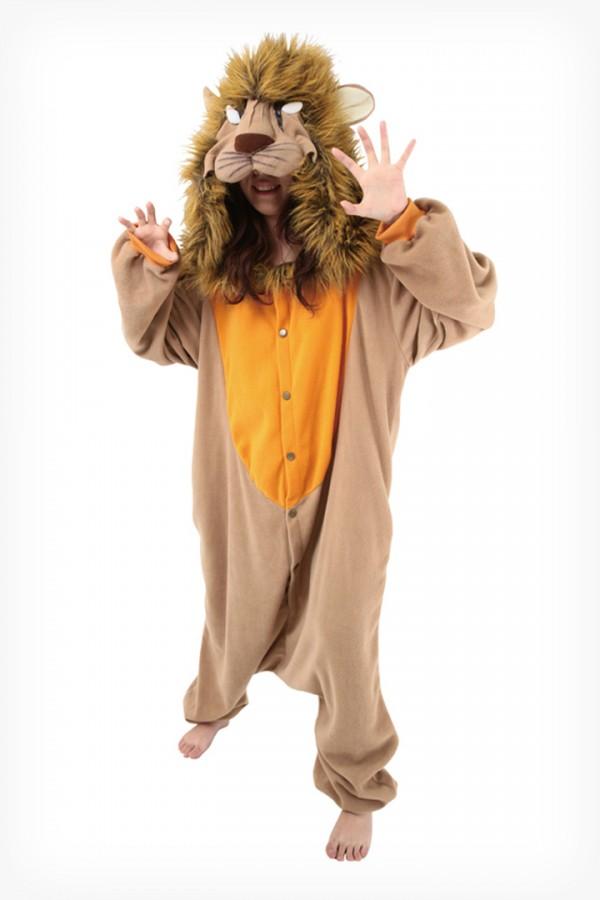 0b3d7a86f94c Lion Kigurumi - Animal Onesies Pajamas for Adult   Kids