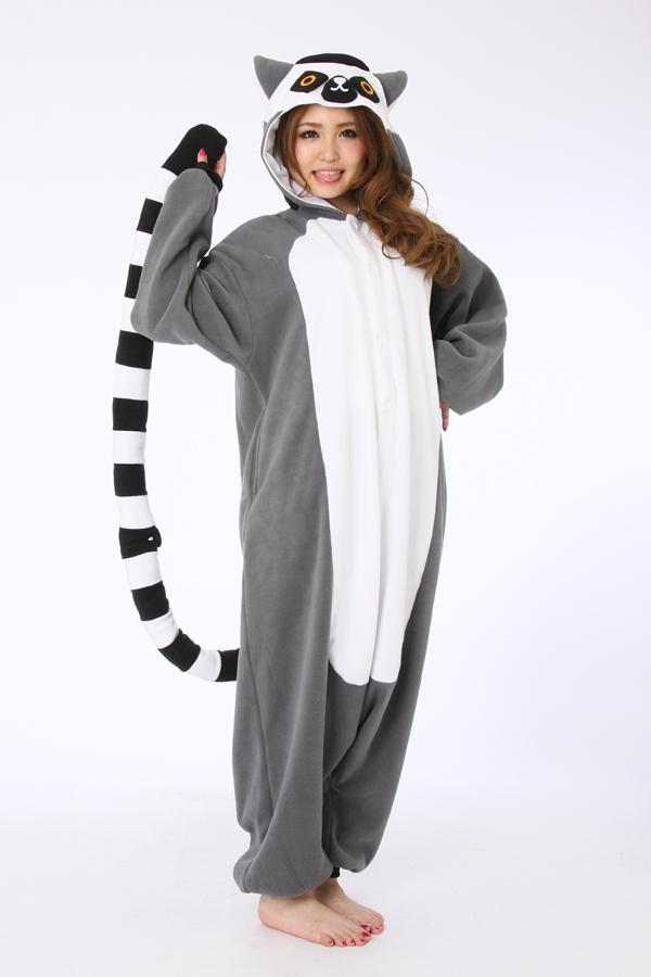 92a27872cd Lemur Kigurumi Onesie - Animal Onesies Pajamas for Adult   Kids