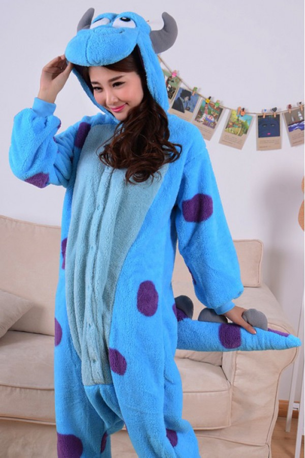 Monsters Inc Sulley Onesie Kigurumi Pajamas Animal Onesies Pajamas For Adult Kids