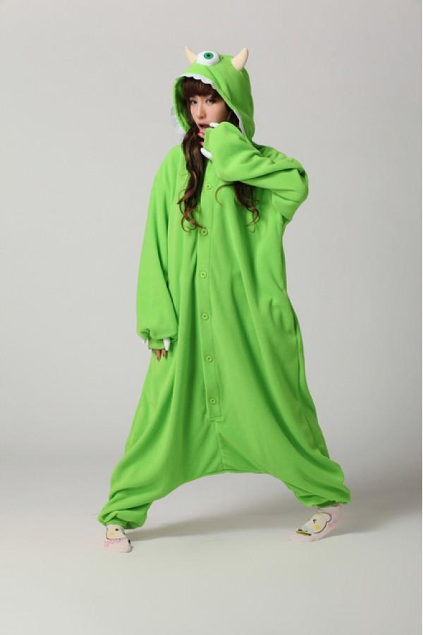 6a34d81628a2 Mike Wazowski Onesie - Animal Onesies Pajamas for Adult   Kids