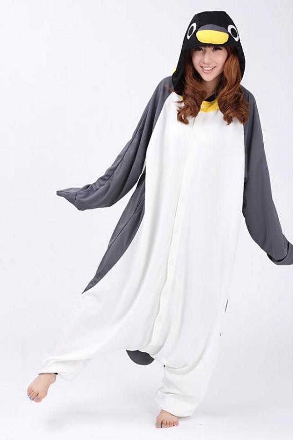 fdd3a3f4490a Penguin Kigurumi Onesie - Animal Onesies Pajamas for Adult   Kids
