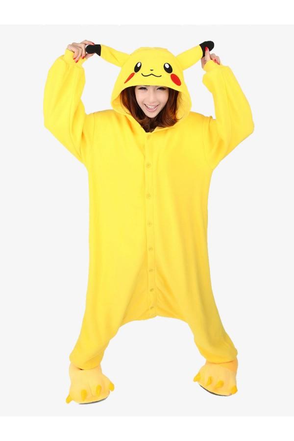 ef8452ce7f6c Pokemon Pikachu Kigurumi Onesie - Animal Onesies Pajamas for Adult ...
