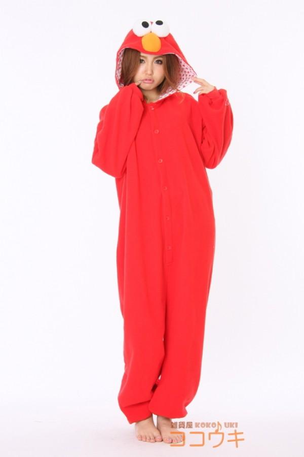 f92a96c8f148 Sesame Street Elmo Monster Onesie - Animal Onesies Pajamas for Adult   Kids