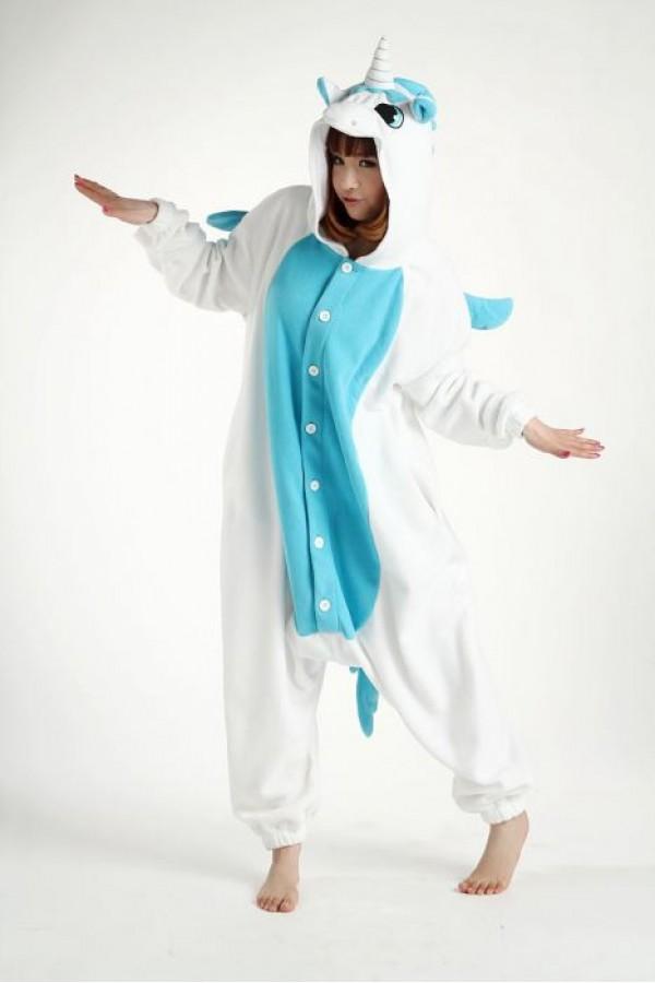 blue unicorn kigurumi onesie animal onesies pajamas for