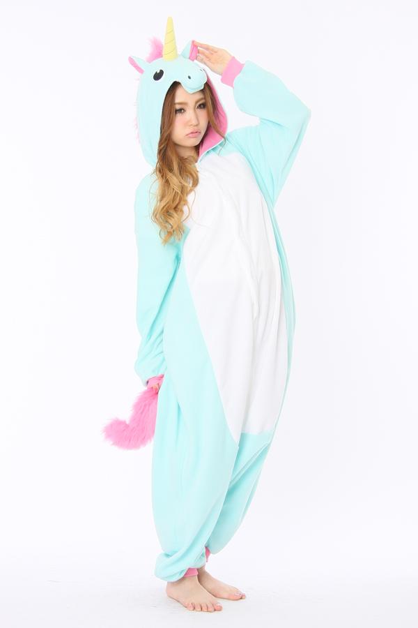 f96ac7328823 Blue Unicorn Animal Onesie - Animal Onesies Pajamas for Adult   Kids